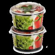 PET-Deckel zu Salatschale aus Karton