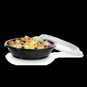 Salatschale aus rPET LIGHT rund & Deckel