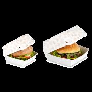 Burger-Box aus Karton oder Bagasse