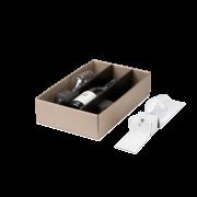 Gläser-Einlage für Flaschen-Geschenkkarton