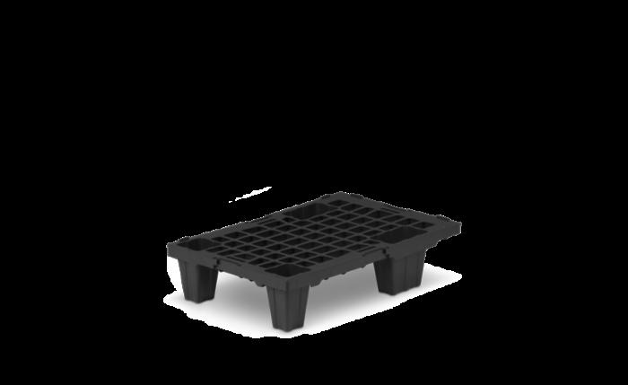 Kunststoffpalette nestbar, 600×400×135 mm