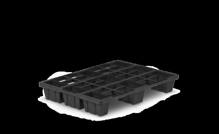 Kunststoffpalette nestbar, 800×600×120 mm