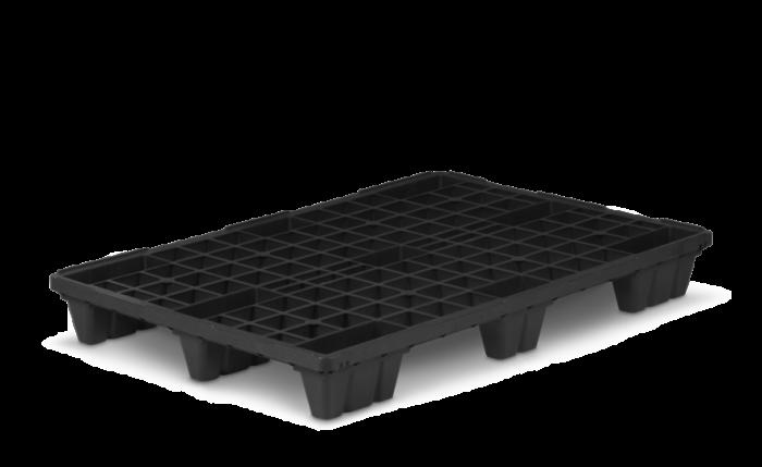 Kunststoffpalette nestbar, 1200×800×140 mm
