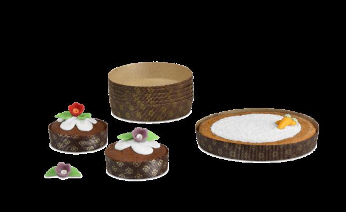 Kuchen-Backform rund mit Dekor