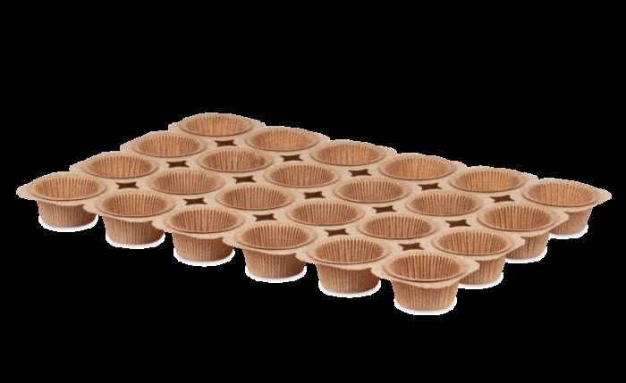 Muffin-Tray mit 24 Cups «Kakao»