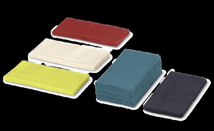 Zelltuch-Serviette farbig, 33x33 cm, 1/8-Falz