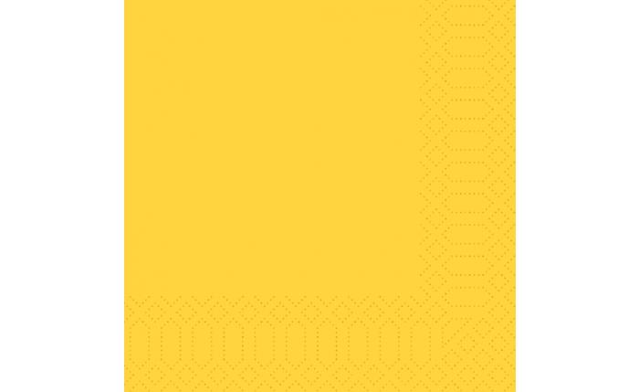 Zelltuch-Serviette 33×33 cm, gelb