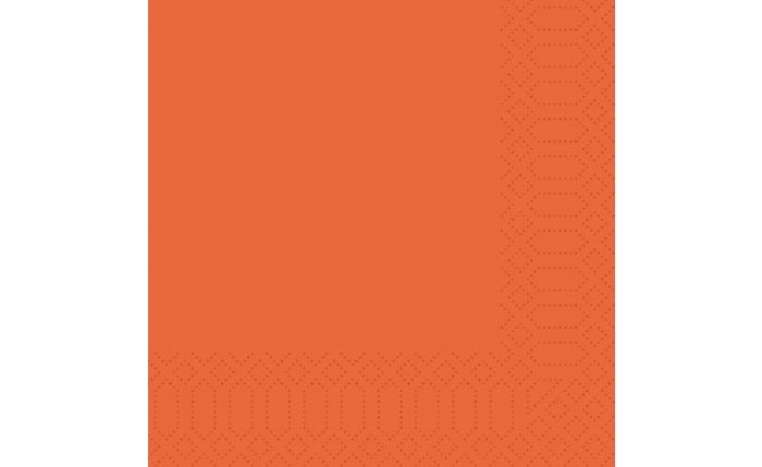 Zelltuch-Serviette 33×33 cm, mandarine