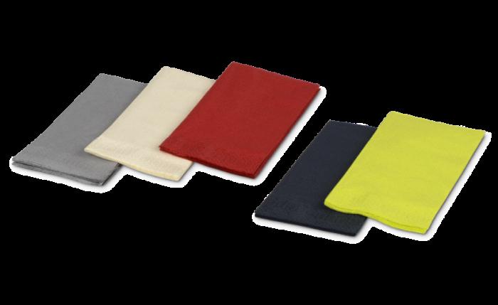 Zelltuch-Serviette farbig, 40x40 cm, 1/8-Falz