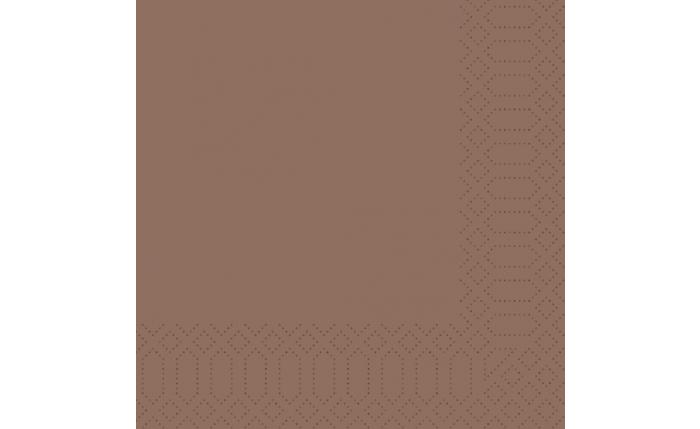 Zelltuch-Serviette 40×40 cm, chestnut