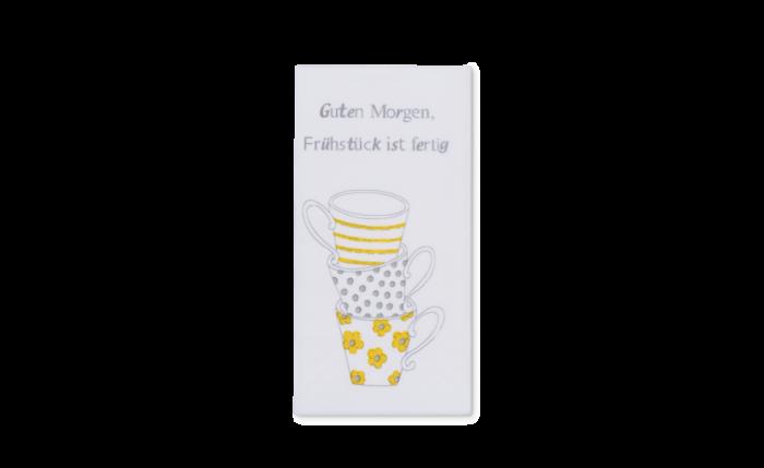 Zelltuch-Serviette «Guten Morgen» gelb
