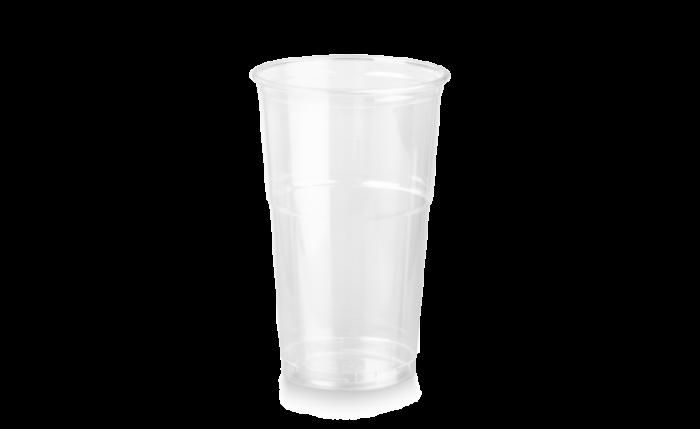 rPET Clear Cup, 20 oz/0,500 l, Ø 95 mm