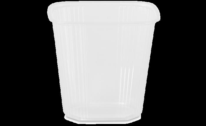 PP-Rechteckbecher ohne Deckel 500 ml/500 g