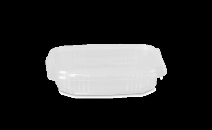 PP-Rechteckbecher mit Deckel 125 ml/100 g