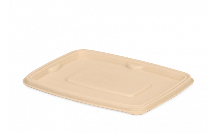 Bagasse-Deckel, 200×155×11 mm