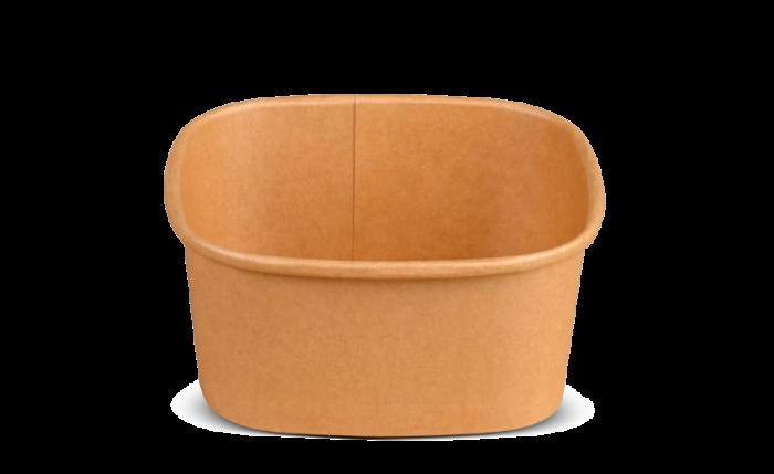 Schale aus Karton braun eckig, 130×130×60 mm