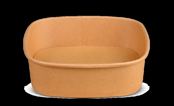 Schale aus Karton braun eckig, 170×170×50 mm