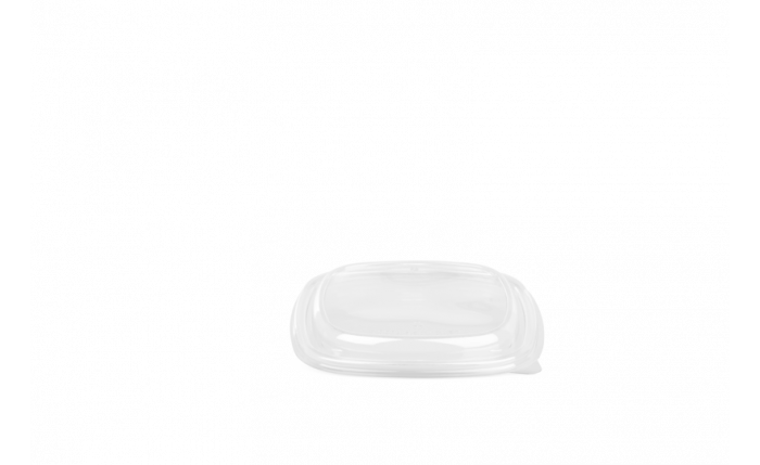 rPET-Deckel eckig, 130×130×18 mm