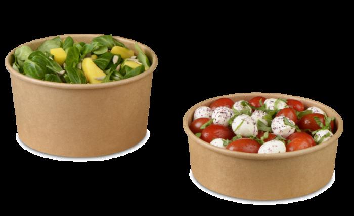 Salatschale braun mit PE-Beschichtung