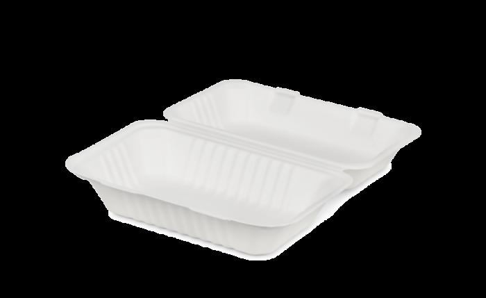 Bagasse-Menübox, 230×158×80 mm