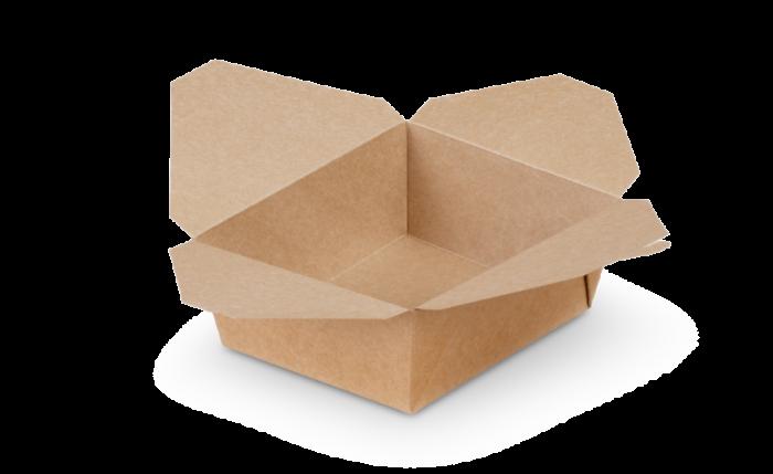 Mitnahme-Box eckig braun, L