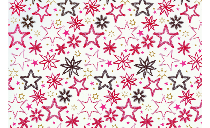 Geschenkpapier-Bogen, rote Sterne