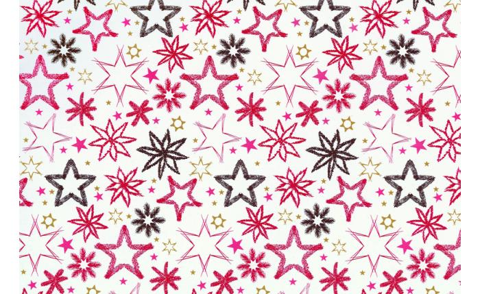 Geschenkpapier-Großrolle, rote Sterne