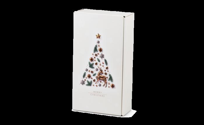 Flaschen-Geschenkkarton X-MAS TREE 2-er