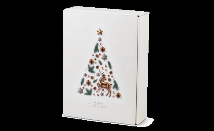 Flaschen-Geschenkkarton X-MAS TREE 3-er