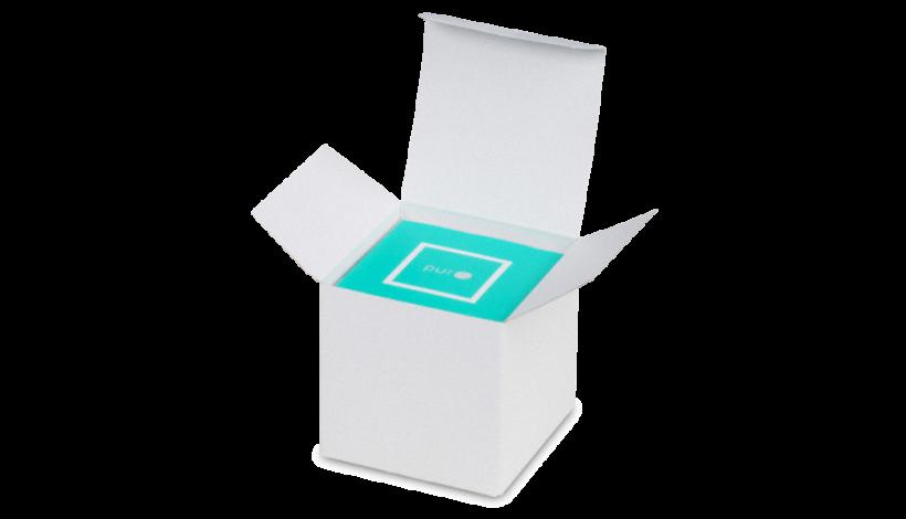 Karton-Box weiß 130×35×150 mm