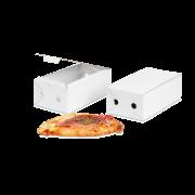 Pizza-Karton Calzone weiss