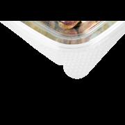 Gourmetschale aus rPET quadratisch mit Deckel