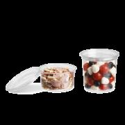 Gourmet-Runddose aus rPET & Deckel