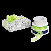 Geschenkband aus Stoff mit Drahtkante