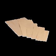 Papierfaltenbeutel braun