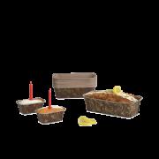 Kuchen-Backform rechteckig mit Dekor