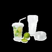 Clear Cup Trinkbecher aus PET mit Eichstrich