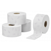 Toilettenpapier in Mini-Jumbo-Rollen