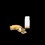 Kartoneinlage gold/weiss zu Blockbodenbeuteln