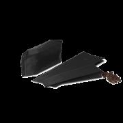 MECAVALVE Aromabeutel mit Seitenfalte und Ventil, schwarz matt