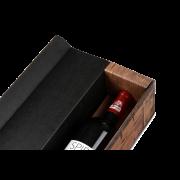 Flaschen-Geschenkkarton RUSTIKAL